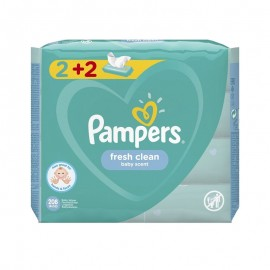 Pampers Fresh Clean Wipes Μωρομάντηλα για την Αλλαγή Πάνας (2+2 ΔΩΡΟ) (4 x 52 τεμάχια)