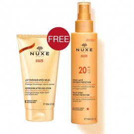 Nuxe Sun promo Milky Spray SPF20 150ml & Δώρο Lait After Sun 100ml
