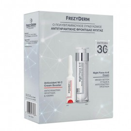 FREZYDERM Set Night Force A + E Cream 50ml + Antioxidant Vit C Cream Booster 5ml