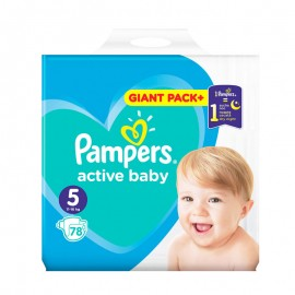 Pampers Active Baby No5 Giant (13-16Kg) 78Τμχ