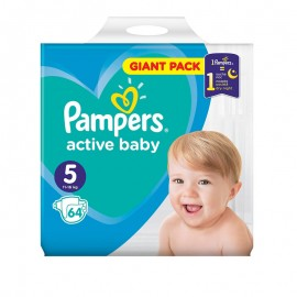 Pampers Active Baby No5 Giant (11-16Kg) 64Τμχ