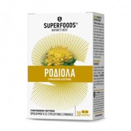 Superfoods Ροδιόλα, Rhodiola Rosea, Stress & Libido, 30caps