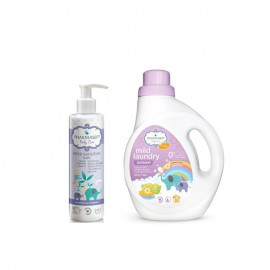 PHARMASEPT Promo Mild Laundry Detergent  1lt + Pharmasept Baby Care Extra Sensitive Bath 250ml