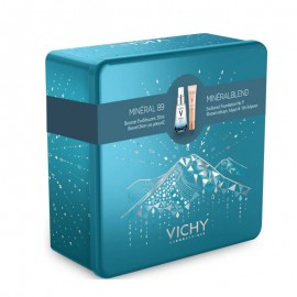 Vichy Promo Xmas Box Mineral 89 30ml & Mineralblend Foundation No9 30ml