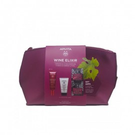 Apivita PROMO PACK Wine Elixir Αντιρυτιδική Κρέμα για Σύσφιξη & Lifting SPF30 40ml & ΔΩΡΟ 3 in 1 Face & Eyes Cleansing Milk 50ml & ΔΩΡΟ Express Beauty Face Mask Grape 2x8ml & Τσαντάκι
