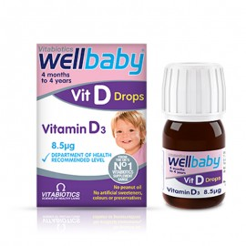 Vitabiotics Wellbaby Vit D Drops 10mg Βιταμίνη D3 σε σταγόνες 30ml